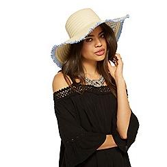 Miss Selfridge - Slogan straw hat