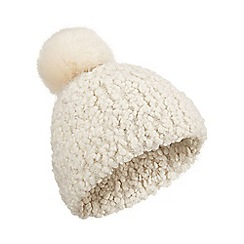 Miss Selfridge - Popcorn yarn pom hat