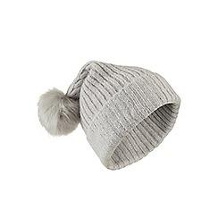Miss Selfridge - Embellished rib hat grey