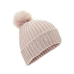Miss Selfridge - Embellished rib hat pink