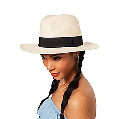 Miss Selfridge - Straw fedora hat
