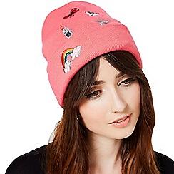 Miss Selfridge - Pink novelty beanie