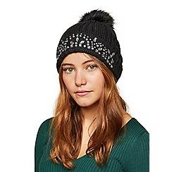 Miss Selfridge - Black jewel hat