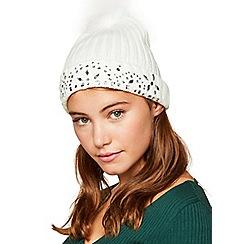 Miss Selfridge - Cream jewel hat
