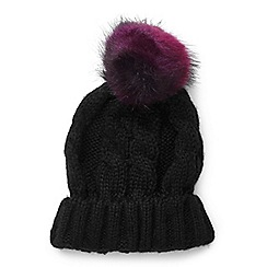 Miss Selfridge - Double fur pom beanie