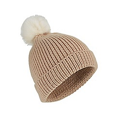 Miss Selfridge - Camel pom beanie hat