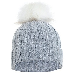 Miss Selfridge - Grey spacedye beanie hat