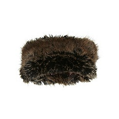 Miss Selfridge - Brown faux fur cossack band