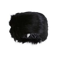 Miss Selfridge - Black faux fur cossack band