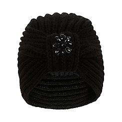 Miss Selfridge - Black embellished turban hat