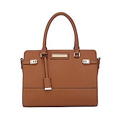 Miss Selfridge - Tan twist lock tote bag