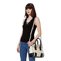 Miss Selfridge - Midi colour block tote bag