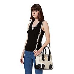 Miss Selfridge - Midi colour block tote bag