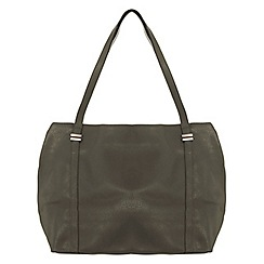 Miss Selfridge - Khaki slouchy shopper bag