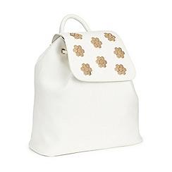 Miss Selfridge - White hexagon backpack