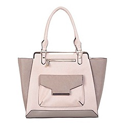 Miss Selfridge - Nude colour block tote bag