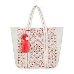 Miss Selfridge - Mirror embellished tote bag