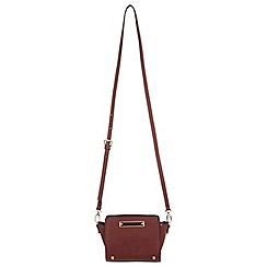 Miss Selfridge - Tan ultra mini cross body bag