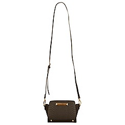 Miss Selfridge - Black snake ultra mini bag