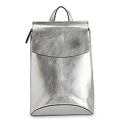 Miss Selfridge - Silver minimal backpack