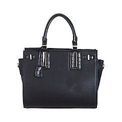 Miss Selfridge - Black croc insert tote bag
