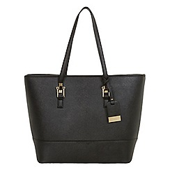 Miss Selfridge - Black scratch tote bag
