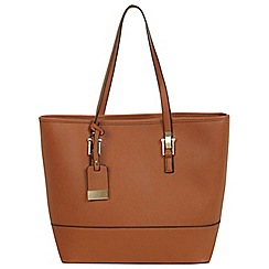 Miss Selfridge - Tan scratch tote bag