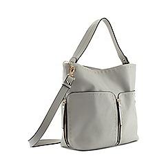 Miss Selfridge - Grey stud hobo bag