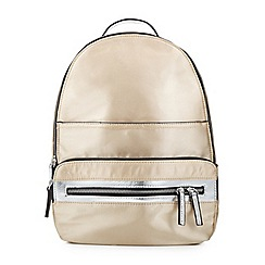 Miss Selfridge - Nylon zip rucksack