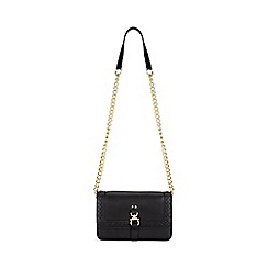 Miss Selfridge - Weave cross body black bag