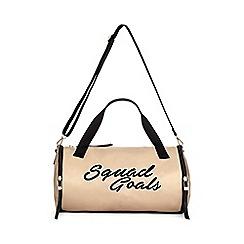 Miss Selfridge - Squad goals gym bag