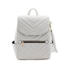 Miss Selfridge - White quilt backpack
