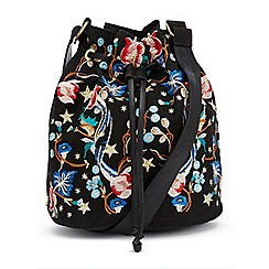 Miss Selfridge - Embroided bucket bag