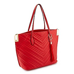 Miss Selfridge - Red quilt tote