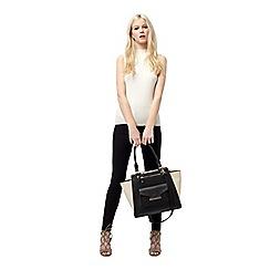 Miss Selfridge - Mono colour block tote bag