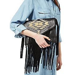 Miss Selfridge - Aztec fringe shoulder bag