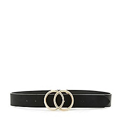 Miss Selfridge - Black circle jeans belt