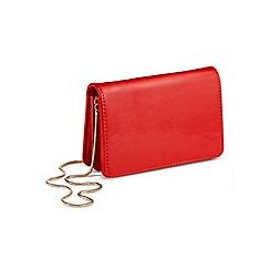 Miss Selfridge - Red mini x body bag