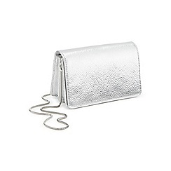 Miss Selfridge - Silver mini x body bag