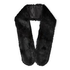 Miss Selfridge - Black faux fur stole