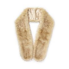 Miss Selfridge - Natural faux fur stole