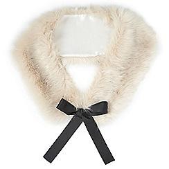 Miss Selfridge - Ice grey faux fur neck tie