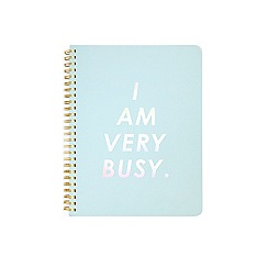 Miss Selfridge - Blue slogan notebook