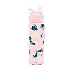Miss Selfridge - Pink floral water bottle