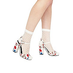 Miss Selfridge - Polka dot sheer sock