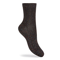 Miss Selfridge - Lurex ankle sock