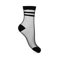 Miss Selfridge - 2 stripe sheer sock