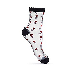 Miss Selfridge - Heart sheer sock