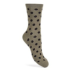 Miss Selfridge - Polka dot cotton sock