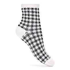 Miss Selfridge - Gingham cotton socks